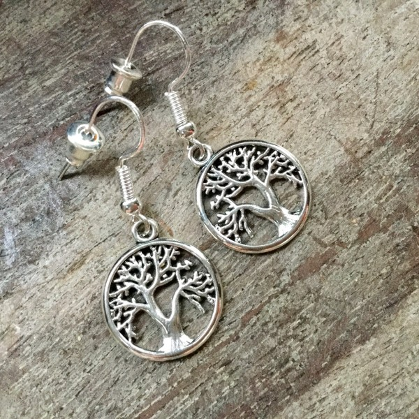 Oorbellen tree of life klein