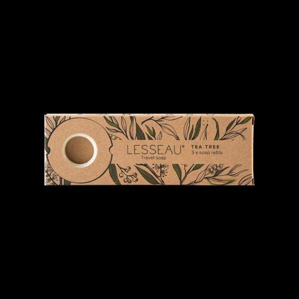 TEA TREE Travel soap 3x navulling