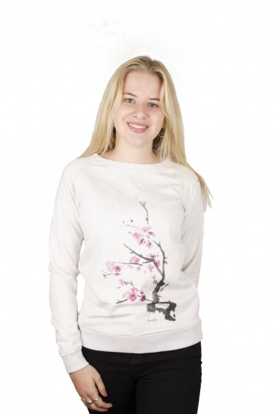 Cherry Blossom Crew Neck Sweater