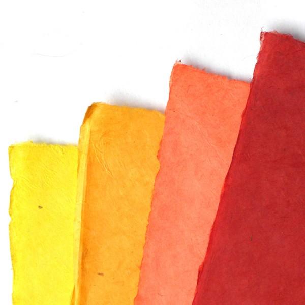 Loktapapier 75x50 cm vellen Rood/geel
