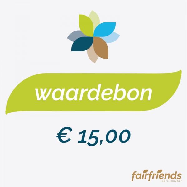 Waardebon € 15,00