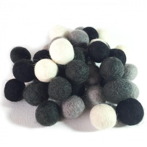 Viltballetje 2,0 cm kleuren mix