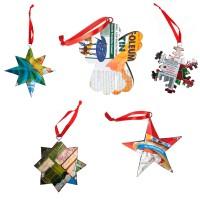 Kersthangers blik (set 10 stuks)
