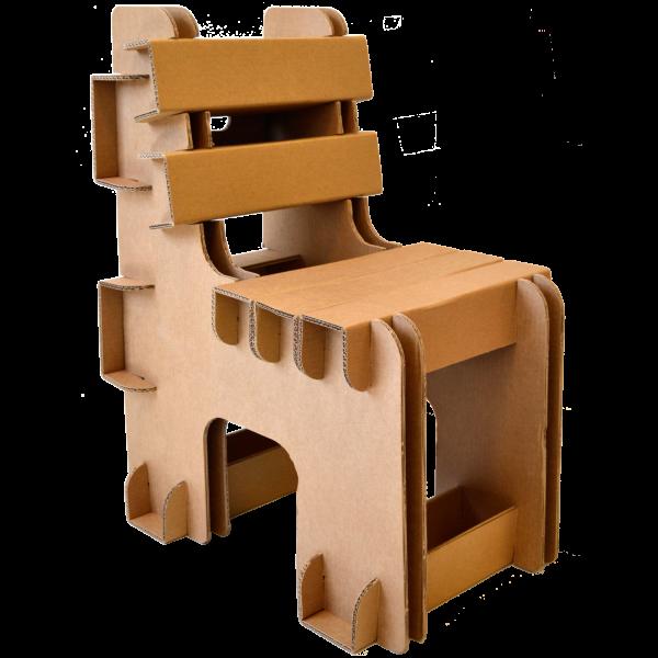 Kartonnen Blok Stoel voor kinderen en volwassenen