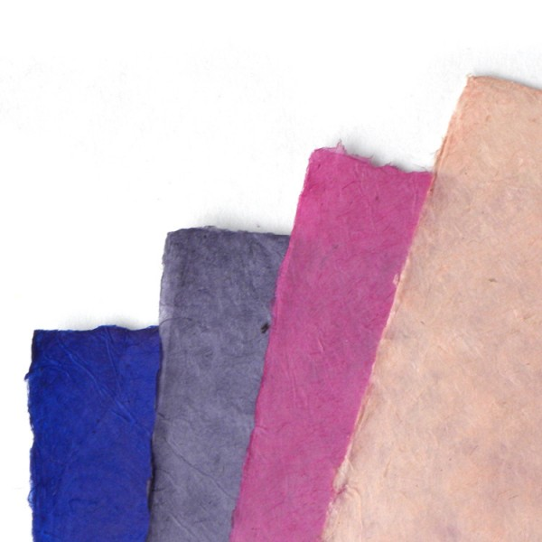 Loktapapier vel 75x50 cm roze/paarstinten