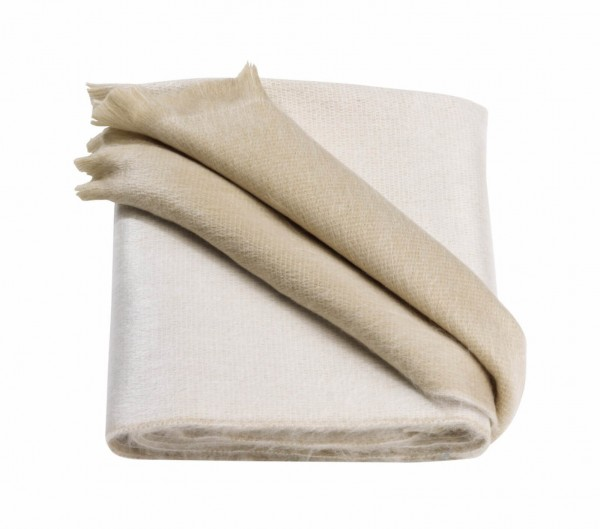 Scarf Double Face Beige White