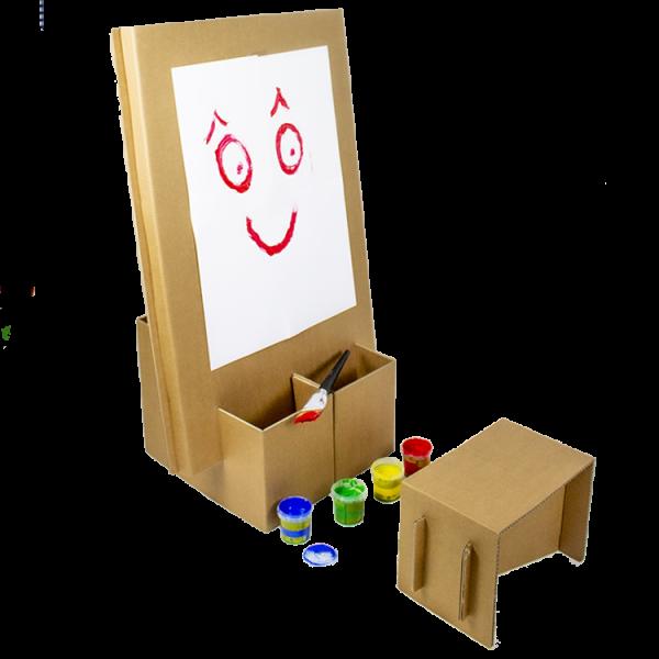 Kartonnen Kinder Schildersezel met Zitje