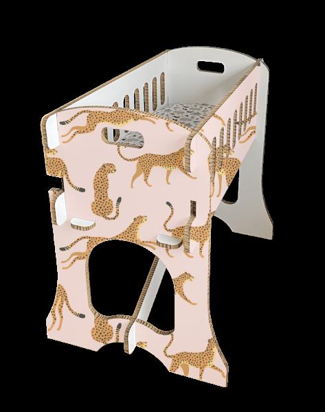Babywieg - Papercrib Luipaard Roze