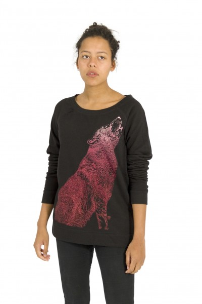 Howling Wolf Wide Open Neck Sweater