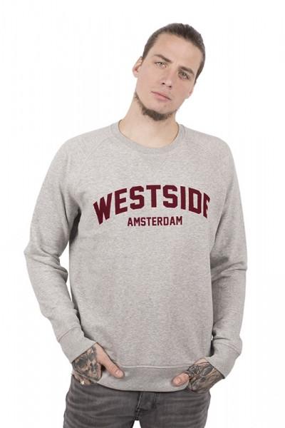 Westside Sweater - Heather Grey (Burgundy Suede)