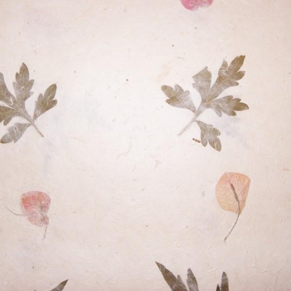 Loktapapier naturel met bloemen 75x50