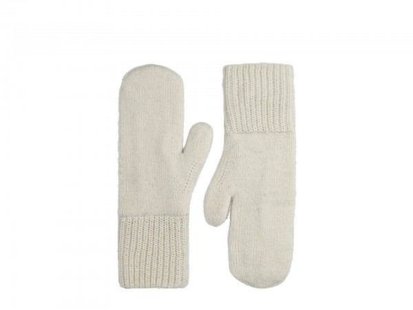 Knitted Mittens Off White
