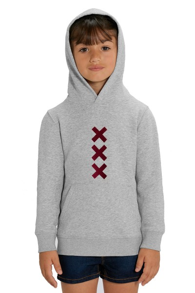 XXX Amsterdam Hoodie - Heather Grey (Burgundy Suede)