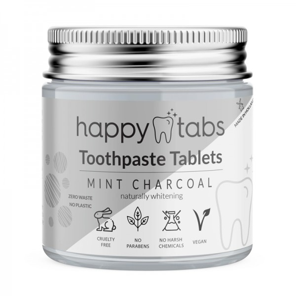 Mint Charcoal tandpasta tabletten (zonder fluoride)