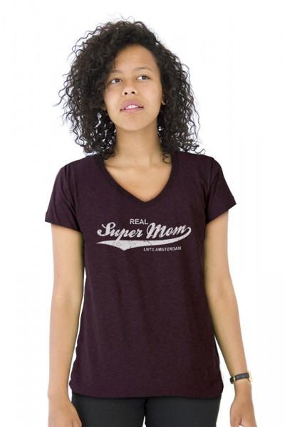 Supermom V-nek T-shirt